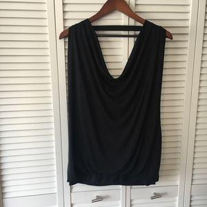 [Haute Hippie] Nude Black Backless Top